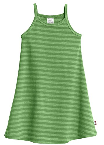 City Threads Little Girls' Summer Dress Cami Camisole Spaghetti Strap Maxi Slip No Sleeve Dress For Sensitive Skin or SPD Sensory Friendly, Striped Elf, 6
