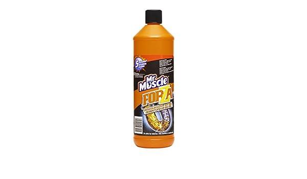 Mr Muscle Forza - Desatascador en gel de efecto inmediato , elimina malos olores y no atasca las tuberías, formato 1 litro: Amazon.es: Belleza