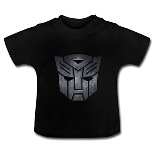 LARger Transformers_logo Baby Classic T-Shirt 5T Black