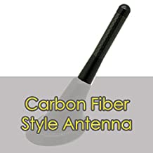 "Alpha Racing Universal 3"" BLACK Short Aluminum Carbon Fiber Printed Screw-on Car Radio Antenna for Lexus"