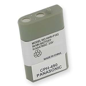 EM-CPH-490 - Ni-MH, 3.6 Voltios, 700 mAh, Batería de Ultra Alta Capacidad- Batería de Repuesto para Panasonic HHR-P103 de Teléfono Inalámbrico