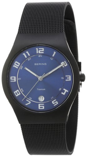 BERING Time 11937-227 Men's Classic Collection Watch with Mesh Band and scratch resistant sapphire crystal. Designed in Denmark. 11937-227