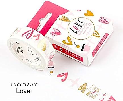 5m Basic Series Gold Foiled Flamingo Unicorn Washi Masking Tape Stick Label Notebook Album Decoration 1.5cm