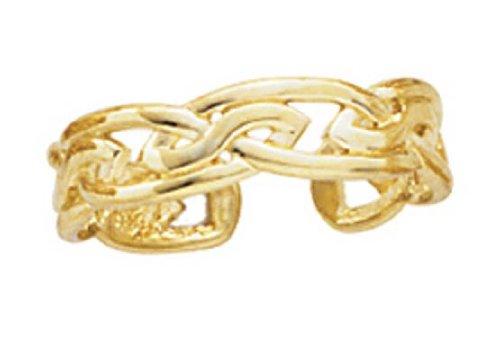 Celtic Ring 14k Toe (14k Yellow Gold Large Celtic Knot Toe Ring)