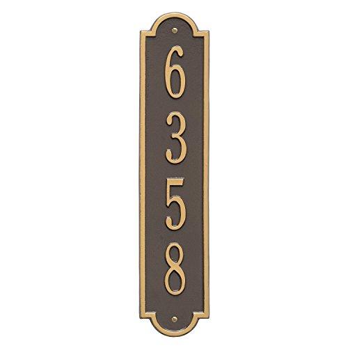 Mailbox Plaque (Richmond Vertical Address Plaque 4