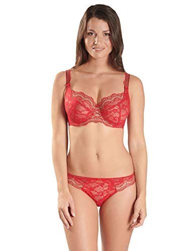 Nd13 Padded Soleil Floral Women's Full Red Gala Nocturne Cup Lace Aubade Underwired Bra Comfort gRYwdxqgp