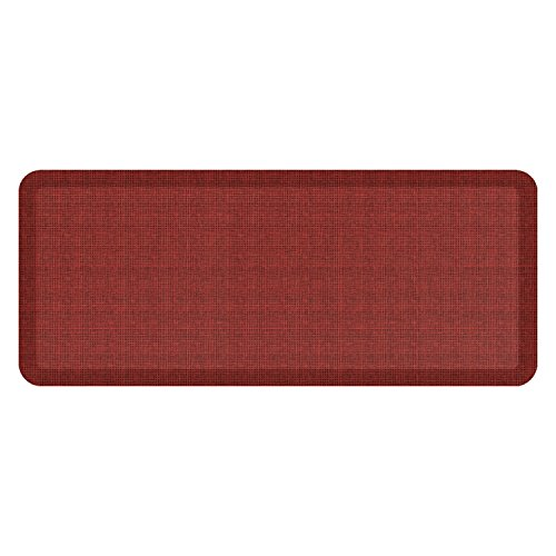 "NewLife by GelPro Anti-Fatigue Designer Comfort Kitchen Floor Mat, 20x48'', Tweed Barn Red Stain Resistant Surface with 3/4"" Thick Ergo-foam Core for Health and Wellness by NewLife by GelPro"