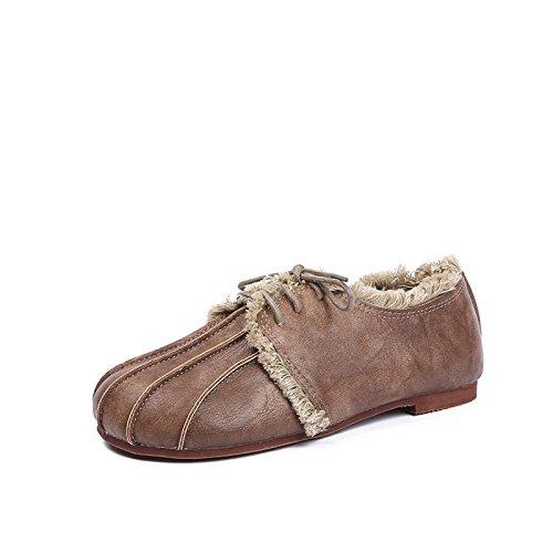 Angrousobiu Schuh Mädchen Mädchen Mädchen Frühling Harajuku Puppe Schuhe mit weichem Leder weiblichen Wild flache Schuhe Retro Schuhe a887da