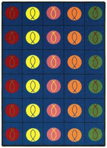 Faith Based Circles and Symbols Kids Rug Rug Size: 10'9'' x 13'2'' by Joy Carpets