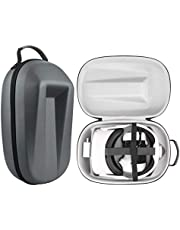 Esimen Travel Case for Oculus Quest 2 Head Elite Strap and Oculus Quest 2 VR Headset All-in-One Storage Bag Modern Carrying Case fit Oculus Quest 2 Accessories (Grey Case)