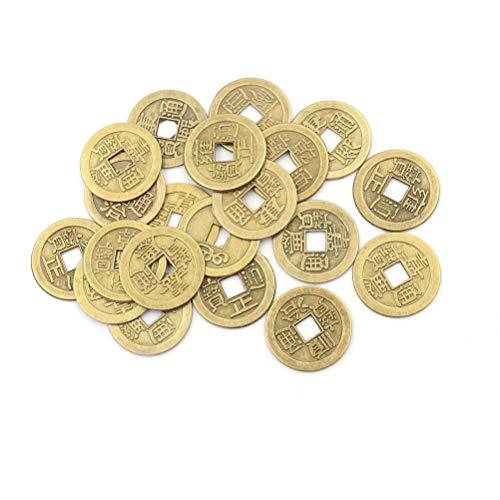 Good Luck Coin - 20pcs Random Send Chinese Feng Shui Tune Wealth Success Lucky Emperor Qing Home Decor Material - Lucky Car Money Meter Dynasty Coin Coin Costume Costume Black Qing Chinese Shui -