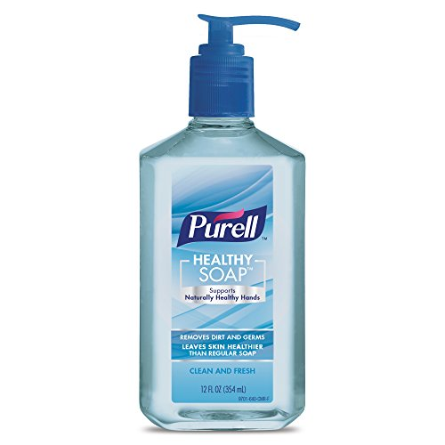 Purell HEALTHY SOAP Clean and Fresh, 12 fl. oz. Pump Bottle (Pack of 2) - 9701-06-EC Soap 12 Ounce Bottle