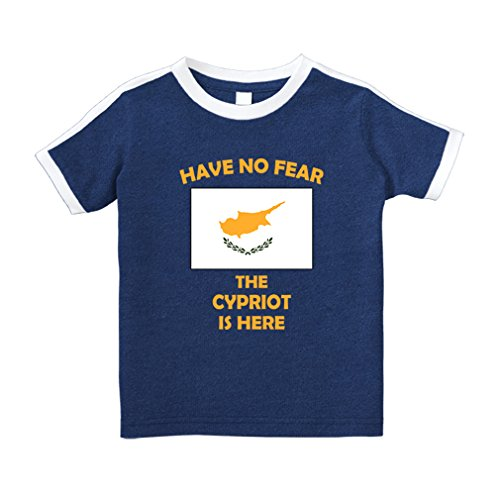 Cute Rascals Have No Fear Cypriot is Here Cyprus Cotton Short Sleeve Crewneck Unisex Toddler T-Shirt Soccer Tee - Royal Blue, - Cyprus Tee