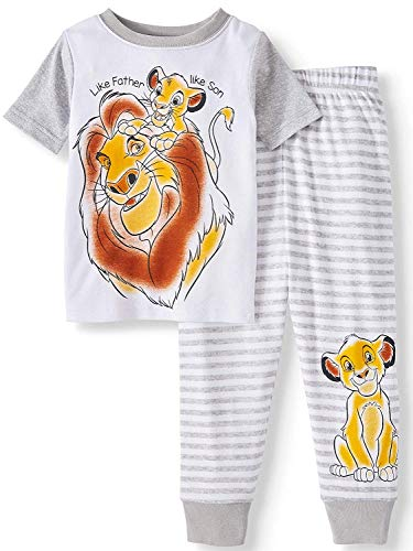 Disney The Lion King Toddler 2-Piece Pajama Set (5T) White]()
