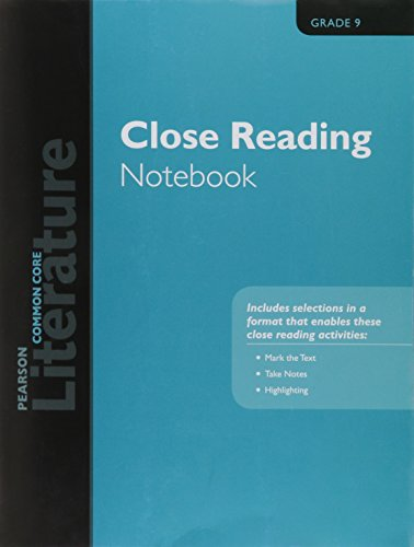 PEARSON LITERATURE 2015 COMMON CORE CLOSE READING NOTEBOOK GRADE 09
