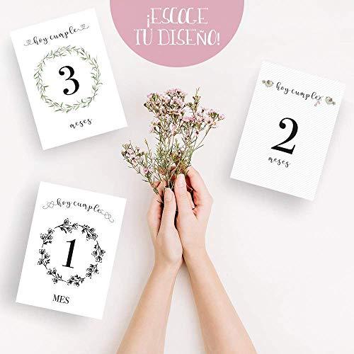 Láminas impresas CUMPLE MES   Lámina para celebrar el cumple mes   Recuerdo de crecimiento   Bebe recién nacido   Ahora también en Catalán   AHORA ...