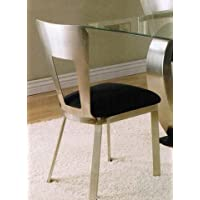 ACME Camille Side Chair, Chrome Finish, Set of 2