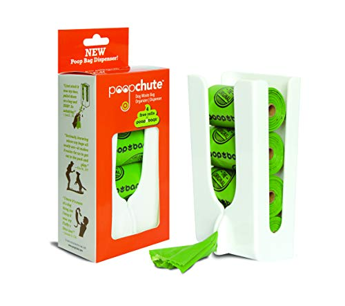 (PoopChute Pet Waste Bag Dispenser with 4 Free Rolls Poop Bags)