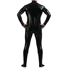 - 412Bh4A7EjL - VSVO Unitard Skin-Tight Dancewear Metallic Suit for Adults and Children