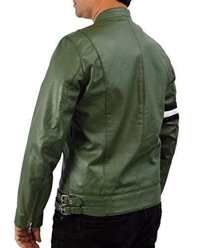 Véritable Agency Cuir Gently Hommes En Theskinshop Vert 194 Detective Dirk Wa Holistic Veste RYxvO