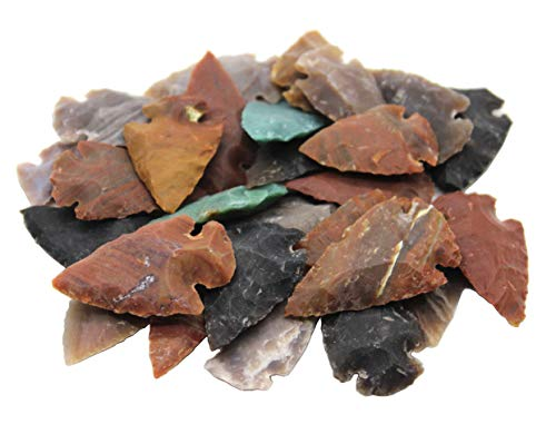 - Crsytalo - Set of 100 Indian Arrowheads Agate New Replica 1
