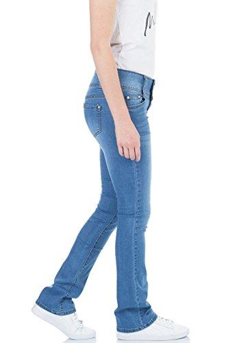 Bleu Femme Jeans bleu Bootcut malucas Bleu wURqPx