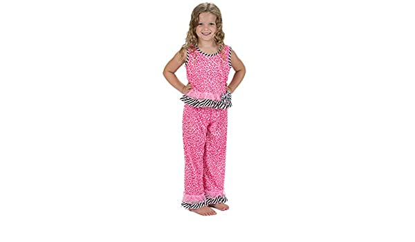 Laura Dare Baby Girls in The Pink Sleeveless Pajamas