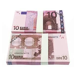 5 10 20 50 100 200 500 EUR Billetes de Oro en Papel Moneda