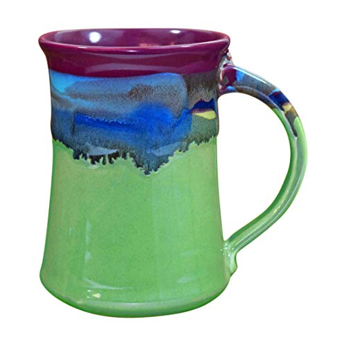 Clay in Motion Handmade Ceramic Large Mug 20oz - Mossy Creek ()