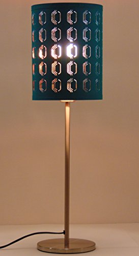 Ikea Nymo Table Lamp 26 Quot Nickel Plated Turquoise 7 5