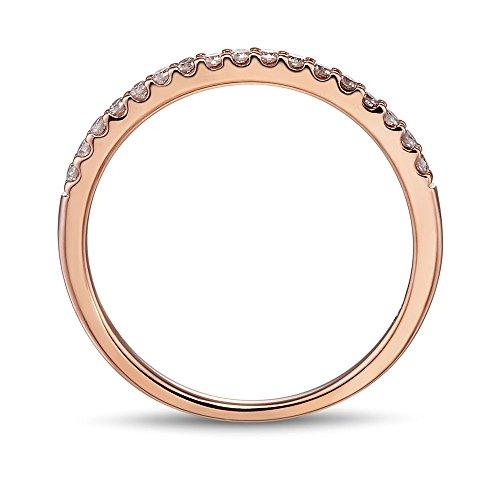 10k Rose Gold Petite Diamond Wedding Band 1/5 cttw (HI, I2 I3)