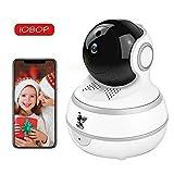 Wireless IP Security Camera, Nanny Cam, 1080P WiFi Home Surveillance Indoor Camera Pan/Tilt