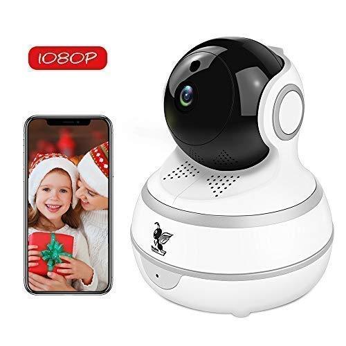 Wireless IP Security Camera, Nanny Cam, 1080P WiFi Home Surv