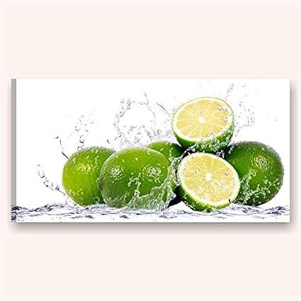Quadri L&C ITALIA Lime - quadro moderno xxl per cucina stampa su ...