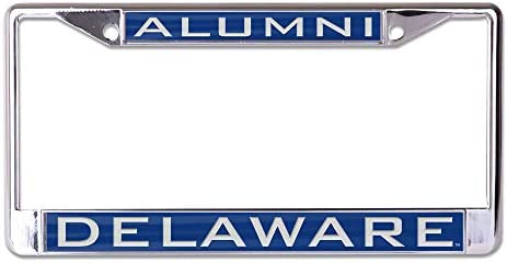 University of L362756 Inlaid Metal LIC Plate Frame WinCraft Delaware