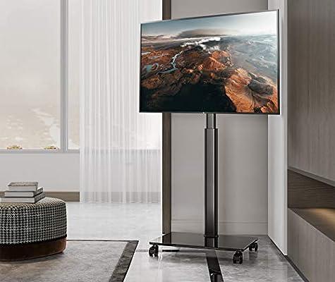 EONO Soporte Móvil TV de 19 a 60 Pulgadas Soporte de Suelo para Televisión de Pantalla LED LCD Plasma Plana Curva Altura Ajustable ETT105505MB: Amazon.es: Electrónica