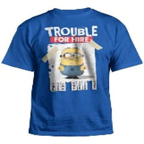 Despicable Me 2 Trouble For Hire Youth Blue T-Shirt