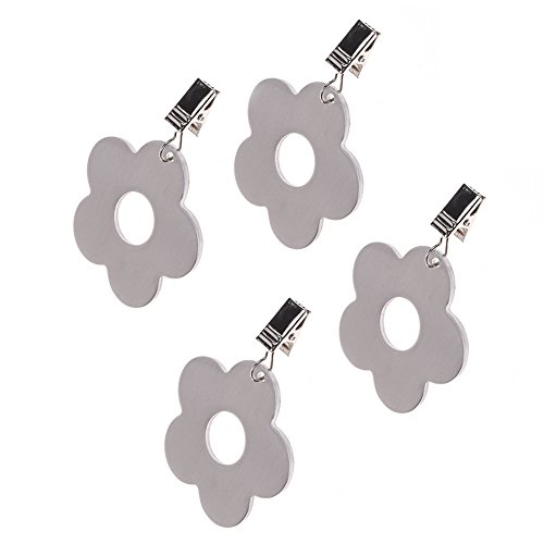 Cosmos Set of 4 Stainless Steel Flower Shaped Table Cover Tablecloth Weights