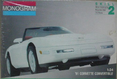 Monogram 2938 1991 Corvette Convertible 1/24 Scale Plastic Model Kit