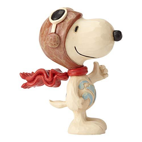 Enesco Jim Shore Peanuts Snoopy Flying Ace Miniature Figurine, 3 Inch, Multicolor
