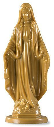 Catholic Our Lady OL of Grace Miraculous Mary Madonna 4 Inch Moulded Figurine Statue