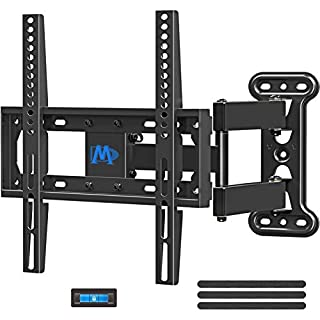 Mounting Dream UL Listed TV Mount TV Wall Mount Swivel and Tilt for 26-55 Inch TV, Perfect Center Design, Full Motion TV Wall Mount Bracket with Articulating Arm up to VESA 400x400mm, 60 lbs, MD2377