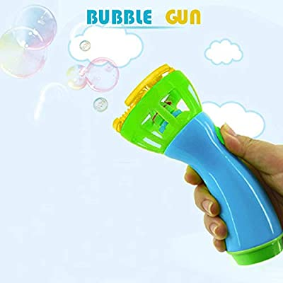 Midress Bubble Machine Electric Bubble Wands Machine Bubble Maker for Kids Hand Held Automatic Blower Outdoor Boy Girls Toy Gift 6.5 x 2.75 inches (Blue): Sports & Outdoors