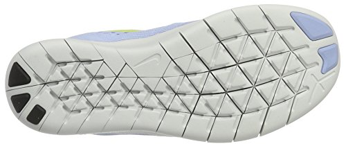 Nike Unisex-Kinder Free Rn Laufschuhe Blau (Almnm/Elctrlm-MD Bl-Off White)