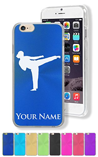 """Personalized Case for Apple iPhone 6/6S (4.7"""") - KARATE WOMAN - Engraved for Free"""