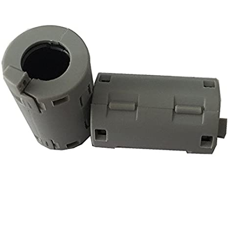 80ea EMI noise cancel ferrite core clamp or clip or split UF110A for diameter 11-12mm cables grey