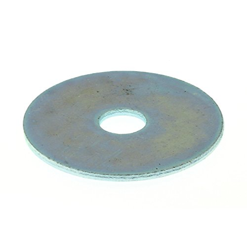 Prime-Line 9081355 Fender Washer, 1/4 in X 1-1/4 in, Zinc Plated Steel, Pack of 100 by Prime-Line Products