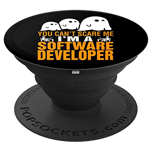 You Cant Scare Me I Am A Software Developer Halloween Gift - PopSockets Grip and Stand for Phones and Tablets