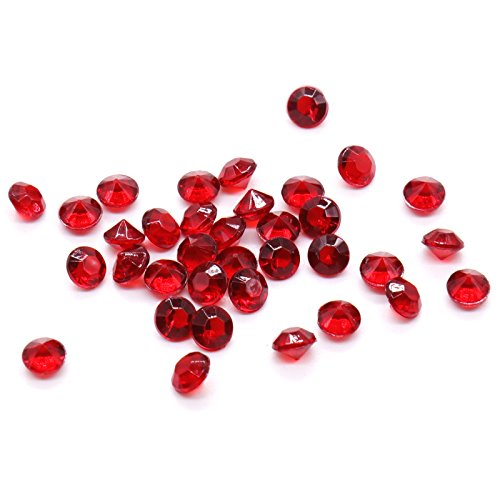 BIT.FLY 4.2mm 10000pcs Acrylic Crystal Diamond for Vase Fillers, Party Table Scatter, Wedding, Photography, Party Decoration, Crafts DIY Project - Burgundy