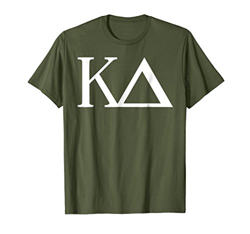 (Mens Kappa Delta Shirt College Sorority Fraternity Tee Small Olive)